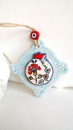 Pomegranate,Ceramic pomegranate,sculpture,art,mosaic tile,gift for mom,handmade ceramic tiles,hand painted tile,iznik tile,wall decor by HilalCiniCeramic on Etsy