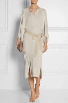 Donna Karan | Belted stretch-jersey dress | NET-A-PORTER.COM
