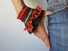 Castilleja hispida: beaded bracelet with by irregularexpressions