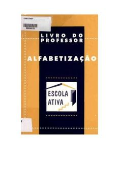 Alfabetização livro do professor