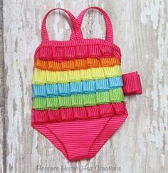 Swimsuit Ribbon Sculpture Hair Clip Bow Summer