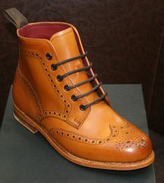 Loake Anne Ladies Brogue Boot, available by calling our sales team on : 02893 355464 or alternatively e-mail:sales@robinsonsshoes.com Ladies Brogues, Dr. Martens, Combat Boots, Lady, Shoes, Clothing, Men, Fashion, Outfit