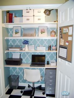I love these in the closet office spaces.