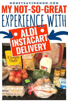 I love shopping at Aldi - but I'm going to share with you why I cannot continue to use the Aldi Instacart Delivery and stay within our grocery budget. #aldi #grocerybudget #instacart Weekly Menu Planning, Family Meal Planning, Budget Meal Planning, Family Meals, Living On A Budget, Frugal Living Tips, Healthy Foods To Eat, Healthy Eating, Money Saving Mom