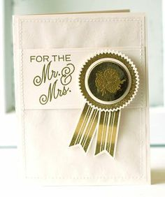 Mr. & Mrs. Card by Betsy Veldman for Papertrey Ink (July 2013)