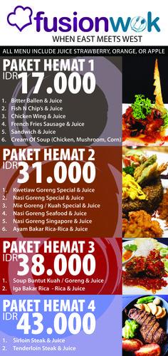 flyer food menu