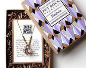 Purple Fluorite Pet Rock Necklace