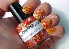 Not Too Polished: I'm on a Boat!: Sunset Boat Ride by Trelly Polish    Gods, I love chunky glitter.
