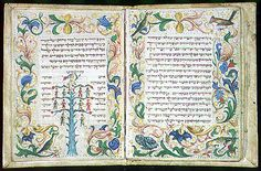 Megillat Esther Italy, 15th century  Parchment, 16 leaves, 60 x 87 mm, 16 lines, in Hebrew, written in Italian square script.