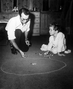 Playing marbles throughout history: marbles 50 years ago