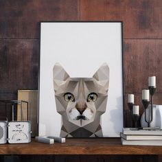 Poster - Polygon Cat - Decohouse