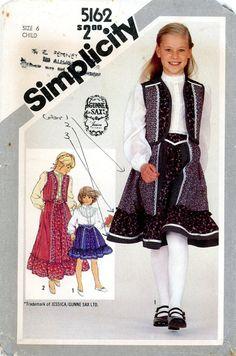 1981 The Children/'s Corner Patterns Lucie Frilly Ruffle Dress Uncut Sz 8