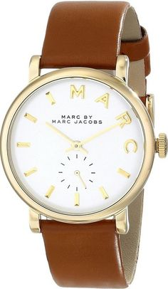 Buy Marc by Marc Jacobs MBM1316 Baker Gold Women's Tan Leather Watch for $119.99 Only! Shop now at http://watchwarehouse.com/marc-by-marc-jacobs-mbm1316-baker-gold-womens-tan-leather-watch/ #WomensWatch #MarcJacobsWatches #WatchesonSale