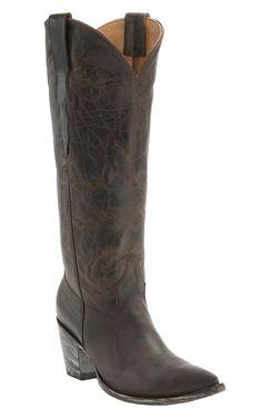 Old Gringo Yippee Ki Yay Women's Chocolate Thunder Cat Tall Snip Toe Western Fashion Boots