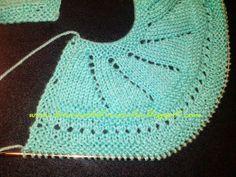 Das Mãos da Teresinha: Casaco de tricô para bebé recém-nascido ( tam. 0 - 3 meses )