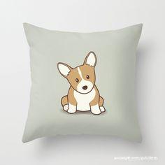 Corgi puppy Throw Pillow