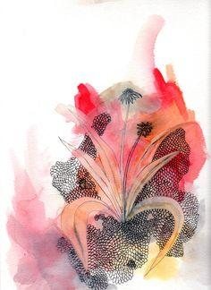 Abstract flower art print by Kara Nelson