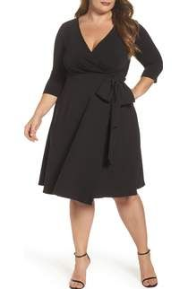 LOST INK Bell Sleeve Fit & Flare Dress Plus Size available at