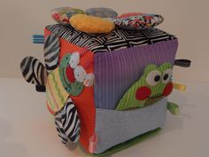 baby sensory activity cube by limedaisykm on Etsy