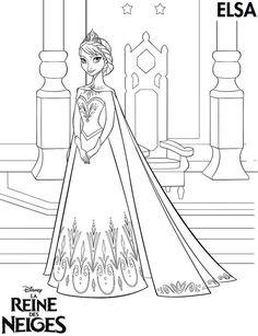 elsa coloriage reine des neiges Coloriages et cahier dactivités : La Reine des Neiges de Disney