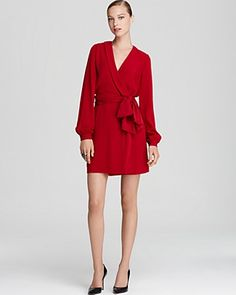 DIANE von FURSTENBERG Wrap Dress -- RED. You can never go wrong with bloody red!