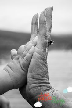 hands, grandma, grandson, idea, cute, fun, black and white, photography, kelowna, bc, baby, together