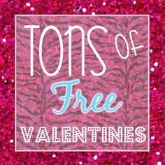 TONS of free printable Valentines links