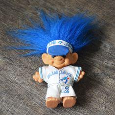 4effee3a83f Vintage 90s Toronto Blue Jays World Series 1992 Forest Troll Doll -  Original