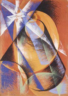 Giacomo Balla - Planet of Mercury passing in front of the Sun Giacomo Balla, Italian Futurism, Vienna, Modern Art, Opera, Vibrant Colors, Sculptures, Museum, My Favorite Things