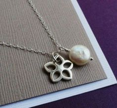 Adorable Flower Girl necklace