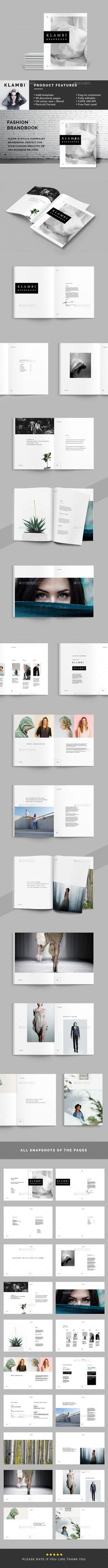 Photography Portfolio Brochure Template InDesign INDD Pages - Basic brochure template