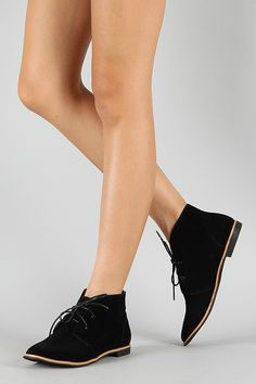 Dollhouse Explore Suede Lace Up Flat Ankle Bootie