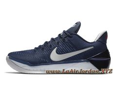 Nike Kobe A.D Midnight Navy 852425 406 Chaussures Nike pas cher Pour HOmme  Bleu Volleyball Shoes 4944d8e19