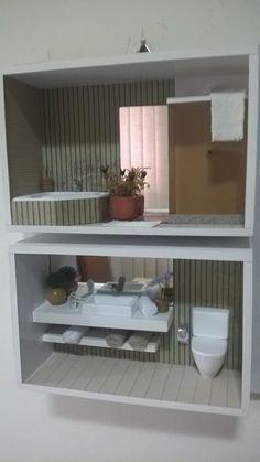 Quadro duplo de banheiro moderno