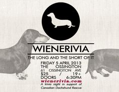 What do you get when you mix dachshund lovers with good wine, and great trivia? WIENERIVIA!   Please be sure to join us for our first human only event, sure to be great fun all while supporting life saving work by CDR. Buy your tickets today at www.wienerivia.com . Just like our long bodied short legged doxie friends, these tickets will move FAST!