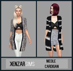 Nicole Cardigans at Kenzar Sims • Sims 4 Updates