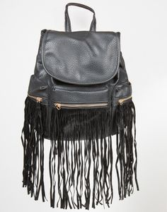 Western Faux Leather Fringe Backpack – Accessories – 2020AVE