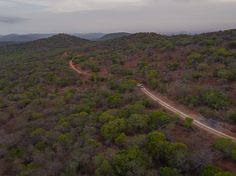 Somkhanda Game Reserve from the air (Photo by Rhino Africa) Rhino Africa, Volunteer In Africa, Air Photo, Game Reserve, Wildlife Conservation, Sunrise, Beautiful Places, Country Roads, River