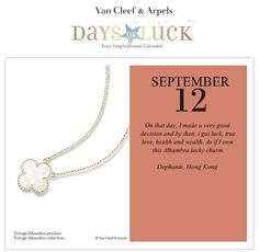 Vote for my Lucky Day on the Van Cleef & Arpels Days of Luck interactive calendar.