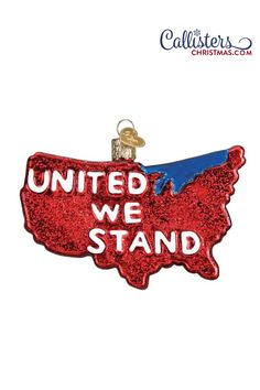 Great party favor, decoration or patriotic hostess gift for your of July party! Great gift for anyone in politics or with ambitions of a political career. Perfect way to show your patriotism! United We Stand Ornament Old World Christmas Ornaments, Christmas Gift Box, Christmas In July, Christmas Decorations, Ornament Hooks, Glass Ornaments, 4th Of July Party, Fourth Of July, United We Stand