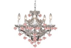 Pink chandeliers? Yes please.