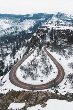 Aerial photo of road and snow New Travel, Winter Travel, Travel Goals, Travel Usa, Travel Packing, Travel Backpack, Winter Road, Tree Images, Like Instagram