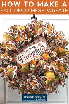 Fall is the perfect time of year to make some DIY fall deco mesh wreaths. The process can seem overwhelming, but this step-by-step tutorial makes it easy and fun! With these tips you'll be on your way to making beautiful decorations that will last all season long. Fall Deco Mesh, Deco Mesh Wreaths, Mesh Wreath Tutorial, Diy Wreath, Autumn Theme, How To Make Wreaths, Thoughtful Gifts, Decorations, Fall Decorating