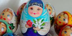 Russian hand painted collectible wooden Easter eggs at yolkstar.com