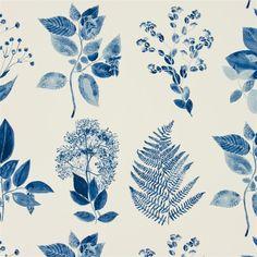 jindai - indigo fabric | Designers Guild