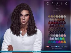 Sims 4 Afro Hair Male, Sims 4 Curly Hair, Curly Hair Styles, Male Hair, Men With Curly Hair, Sims 4 Men Clothing, Sims 4 Male Clothes, Los Sims 4 Mods, Sims 4 Game Mods