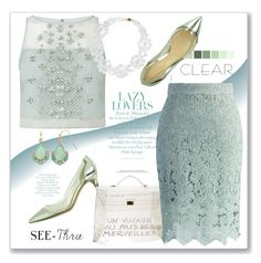 """Clear, lace, see-thur and mint...#top #heels #skirt #bag #lace #sheer #clear #mint #polyvore"" by fashionlibra84 ❤ liked on Polyvore featuring Gianvito Rossi, Hermès, Coast, Chicwish, LC Lauren Conrad and Simone Rocha"
