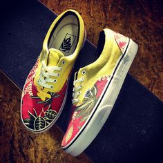 New @vans Era's Shoes in Hawaiian/Red will be online soon, call 1-800-GO-SKATE to order now.