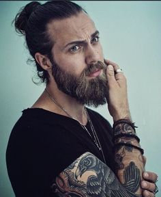 "Man bun hairstyle for men is one of the most valued hairdos for the males. It came up as anRead More Man Bun Hairstyles For Men With Long Hair"" Beard Styles For Men, Hair And Beard Styles, Long Hair Styles, Man Bun Hairstyles, Hairstyle Short, Style Hairstyle, Medium Hairstyles, Wedding Hairstyles, Beard Growth Oil"
