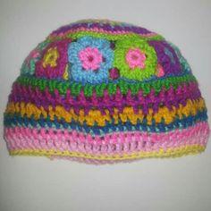 Gorro colorido  tejido a crochet  Disponible  a la venta Facebook  Jenny tejidos